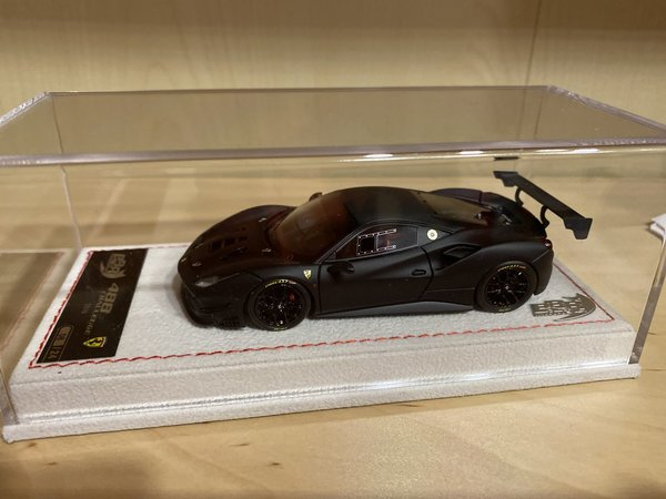 Ferrari 488 Challenge 2016 Nero Opaco Carbon Dach Limit 24 Stück Frank S Modellautoecke